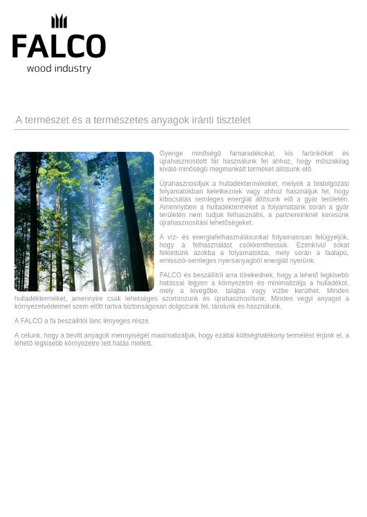 A természet és a természetes anyagok iránti tisztelet
