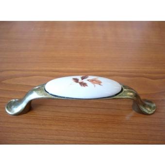 Porcelán barnavirág fogantyú
